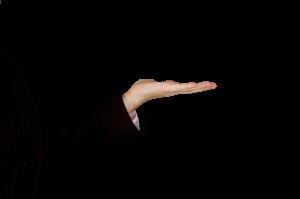 איש עם יד מושטת